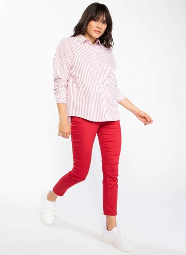 DeFacto Rebeca Skinny Fit Pantolon Kırmızı
